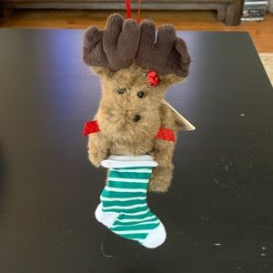 Boyds Bears Mooselsox Plush Christmas Ornament